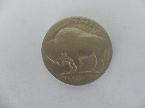 NO YEAR 5C Buffalo Nickel , five cents