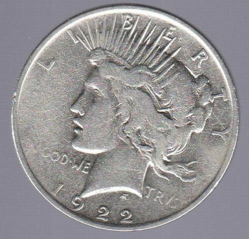 1922 PEACE SILVER COIN BRILLANT AND BEAUTIFUL MINTED PHILADELPHIA