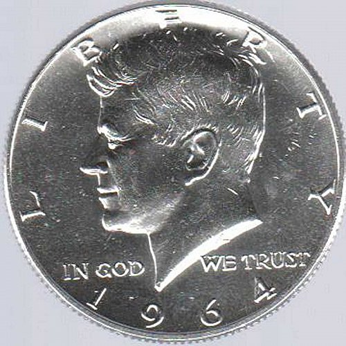 1964-D .900 SILVER BRILLIANT AND BEAUTIFUL KENNEDY HALF DOLLAR MINTED IN DENVER