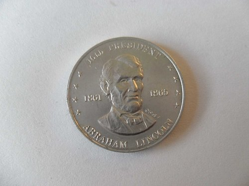 1968 -f A.LINCOLN (1861-1865) SHELL`S MR.PRESIDENT COIN GAME