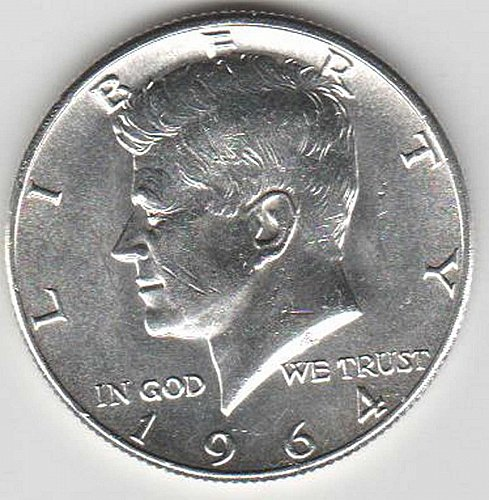 1964 .900 SILVER BRILLIANT AND BEAUTIFUL KENNEDY HALF DOLLAR MINTED IN PHILADELP