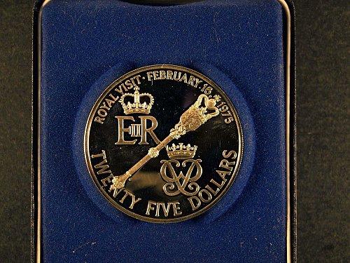 1975 Bermuda $25 Silver coin