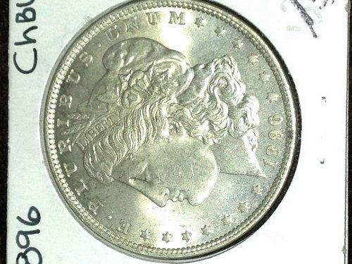 "1896-P Choice B.U.+ MS-65 Morgan Silver Dollar (almost NO ""bagmarks"" etc of ANY"""