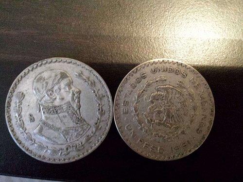 1959-1964 un peso lot of ten