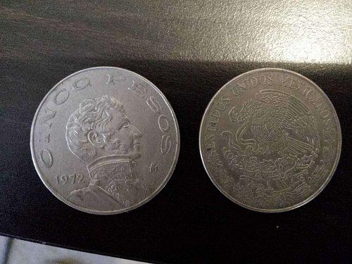 cinco peso coins