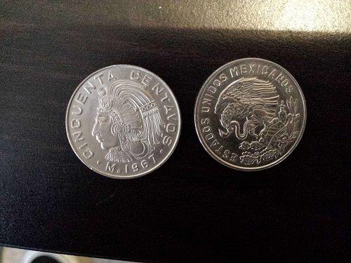 5 mexican cincuenta centavos