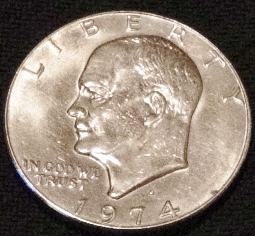 1974 (D) Eisenhower Dollar Excellent Condition