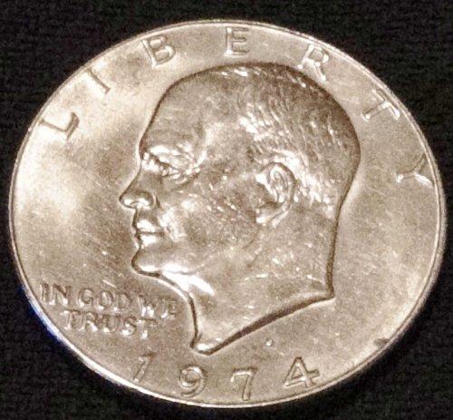 1974 (D) Eisenhower Dollar Excellent Condition