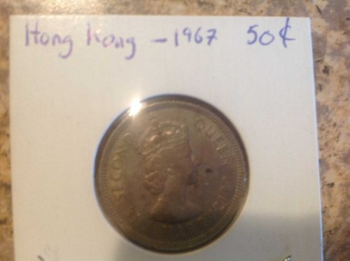 Hong Kong  1967 50 Cent Peice