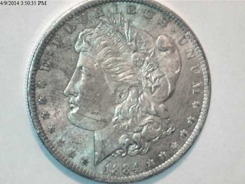 Morgan Series 1884 - 1888  FIVE Silver Dollar Collection