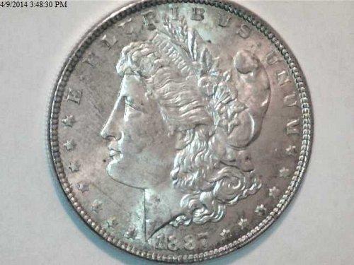 Morgan Series 1884 - 1888  FIVE Silver Dollar Collection