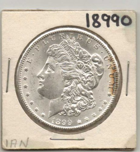 1899 O MORGAN SILVER DOLLAR, AU