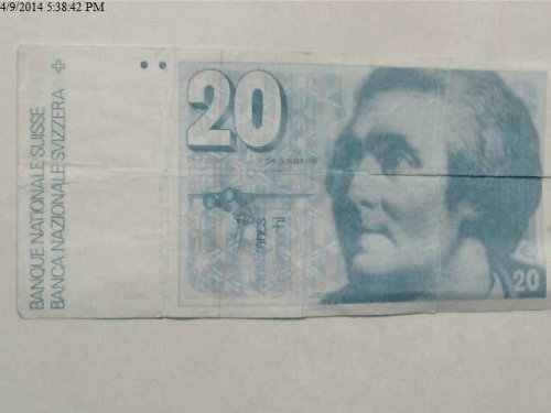 2 Swiss Franc Notes from My Visit There in 1978