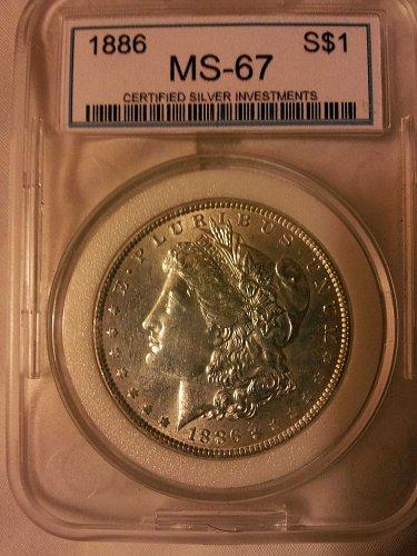 1886  MS 67 MORGAN DOLLAR