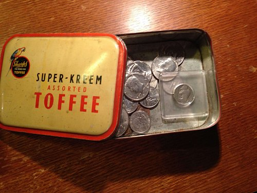 Tin full of old Coins