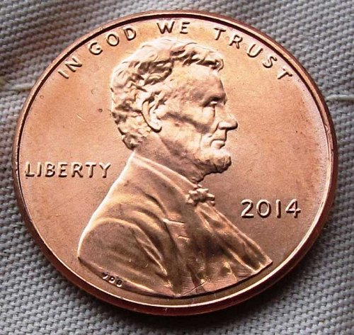 2014 Shiny Lincoln Shield Penny