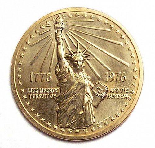 """Statue of Liberty"" & ""Great Seal"" The National Bicentennial Medal 1776-1976"