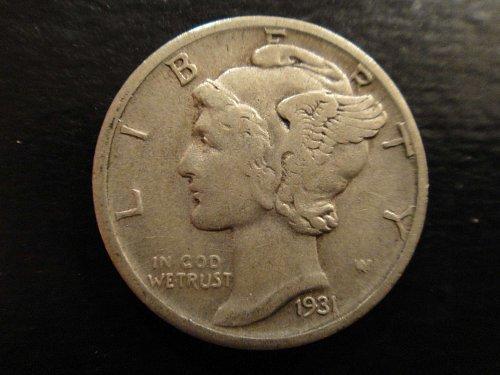 1931-D Mercury Dime Extra Fine-45