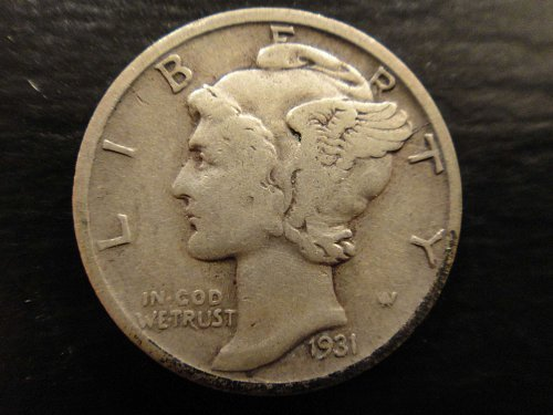 1931-S Mercury Dime Very Fine-25