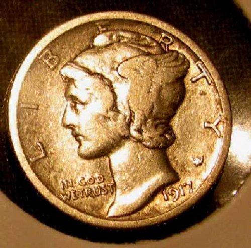 1917 D Silver mercury Dime VF/XF  #12  Reduced ////// Last Chance!!