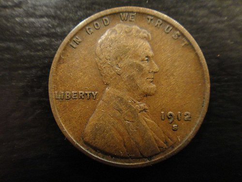 1912-S (Semi Key Date) Lincoln Cent Very Fine-30