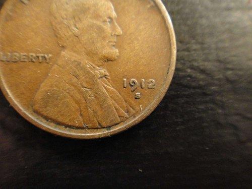 1912-S (Semi Key Date) Lincoln Cent Very Fine-30