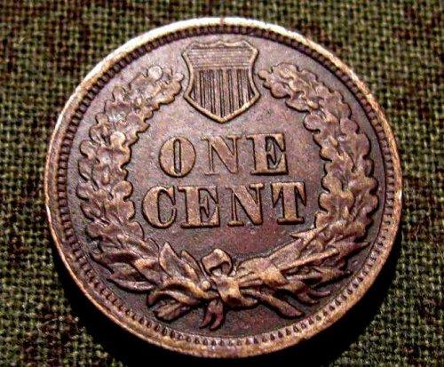 1863 Copper Nickel Indian head cent  Choice AU+++    #26