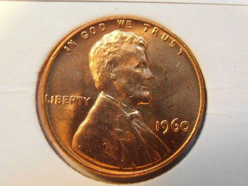 1960 P GEM BU Lincoln Cent LD