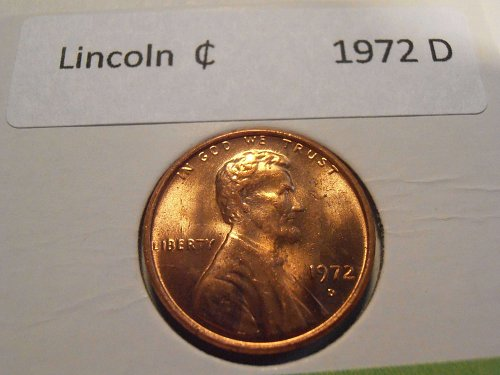 1972 D GEM BU Lincoln Cent