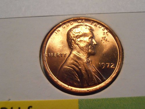 1972 P GEM BU Lincoln Cent