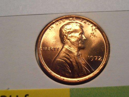 1972 P GEM BU Lincoln Cent