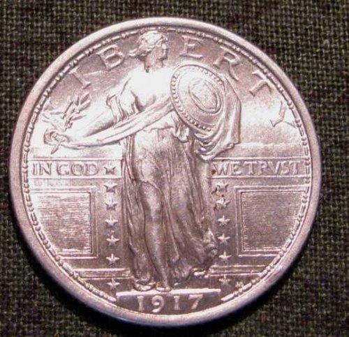 1917 TYPE 1 Standing Lib. Quarter FULL HEAD GEM BU!!  #44 ROCK BOTTOM PRICE!!
