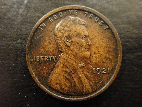 1921 Lincoln Cent Extra Fine-40 Original Darker Chocolate Color