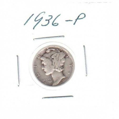 1936 P Mercury Dime - Circulated Coin