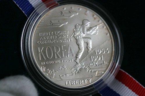 1991  D KOREA SILVER DOLLAR