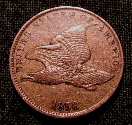 1858 Small Ltr. Flying Eagle cent XF++