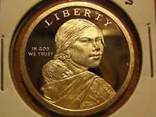 2007 S  PROOF SACAGAWEA GOLDEN DOLLAR