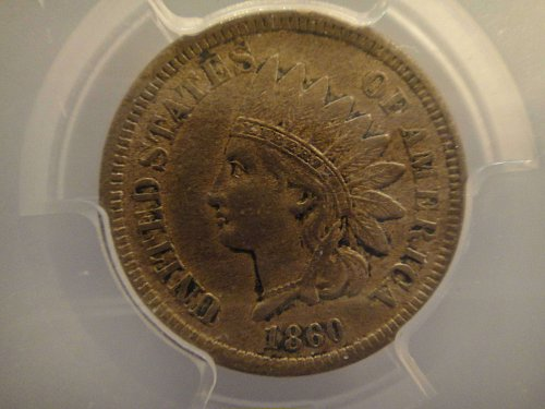 1860 Indian Cent Extra Fine-40 (XF-40) PCGS Strong Strike & Nice Color!