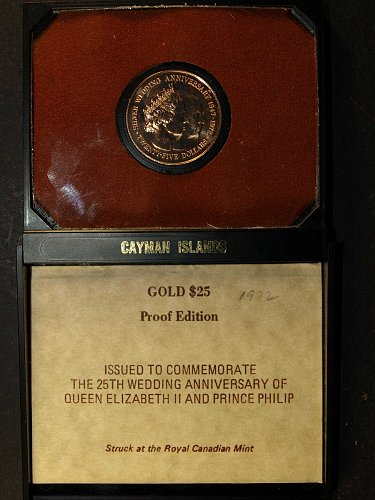 1972 Cayman Island $25 Gold Coin