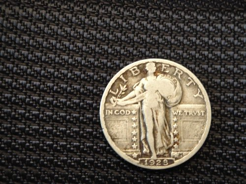Very Good 1928 Standing Liberty Quarter 90% Silver Coin