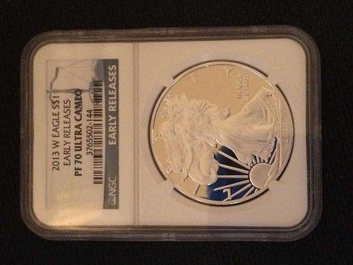 2013-W American Silver Eagle PF70 Ultra Cameo