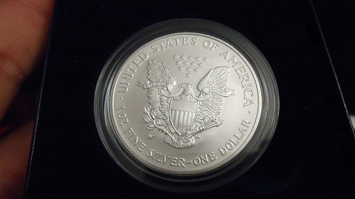 2008 Reverse 2007 Early Release American silver eagle ,Very nice coin
