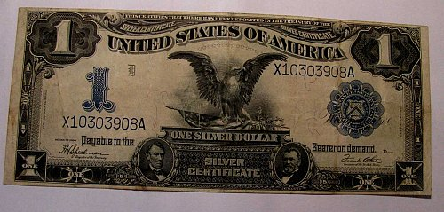 Large $1.Silver certificate Series 1899 #X1030390A Fr.236 UNBELIEVABLE Sale!!