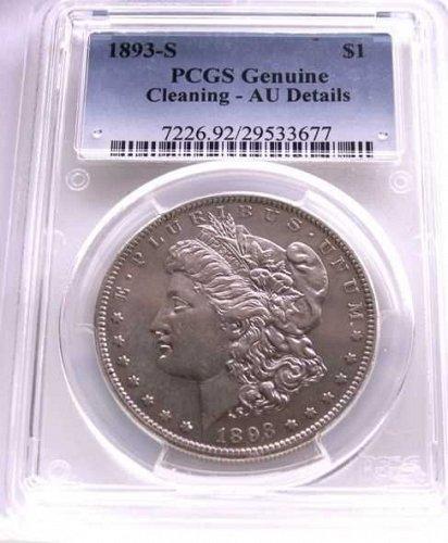 1893 S MORGAN SILVER DOLLAR PCGS RARE KEY DATE AU+