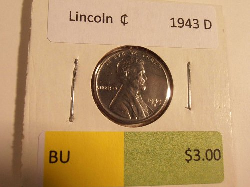 1943 D LINCOLN CENT - BU
