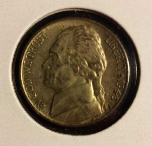 1943 D SILVER Wartime Nickel w/STEPS