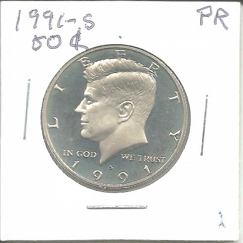 1991 S PROOF  KENNEDY HALF DOLLAR
