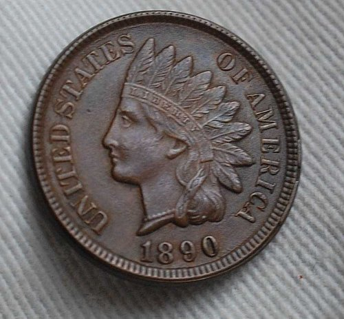 1890 Indian Head Cent - Uncirculated w/ RARE Die Clash