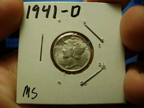 1941-D MS Mint State Mercury Dimes Free Shipping