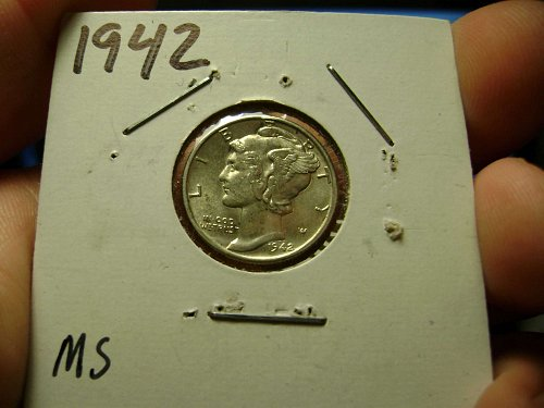 1942 MS Mint State Mercury Dimes Free Shipping